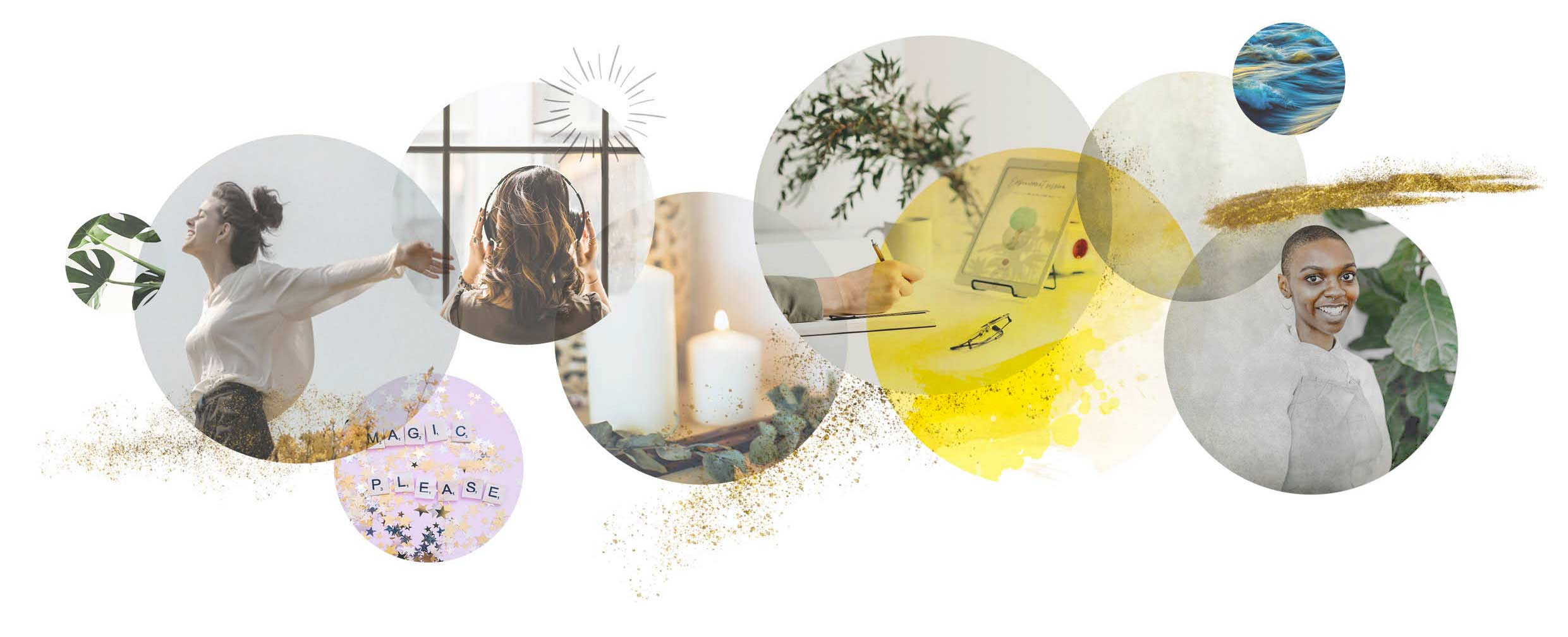 image collage music candles freedom happy