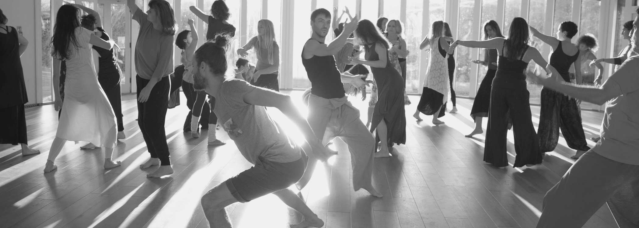 group of people dancing a conscious dance workshop